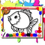 Fish Coloring Book: Let Them Paint Let Them Draw